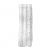 WILLKOMMEN ZUHAUSE Gardinenschal | transparent, Blumen-Muster, 135 x 245 cm, weiß-silber