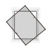 JAROLIFT Insektenschutz Spannrahmen Profi Line für Fenster 130 x 150cm, braun