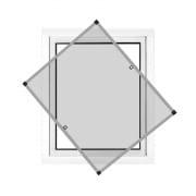 JAROLIFT Insektenschutz Spannrahmen Profi Line für Fenster 60 x 150cm, silber