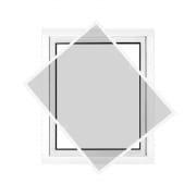 JAROLIFT Insektenschutz Spannrahmen Profi Line für Fenster 130 x 150cm, weiss