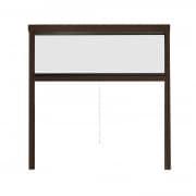 JAROLIFT Insektenschutzrollo Aluminium Eco für Fenster 110 x 160cm, braun