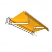 JAROLIFT Gelenkarmmarkise Basic 250 x 150cm + Schutzdach, Stoff gelb Uni #35