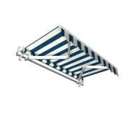 JAROLIFT Gelenkarmmarkise Basic 400 x 300cm, Stoff blau/weiss Blockstreifen #20