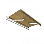 JAROLIFT Gelenkarmmarkise Basic 400 x 300cm, Stoff braun Uni #31