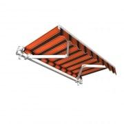 JAROLIFT Gelenkarmmarkise Basic 250 x 150cm, Stoff orange/schwarz Multistreifen #17