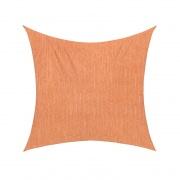 Sonnensegel - 360 x 360cm - orange - quadratisch - atmungsaktiv (3,6 x 3,6m)