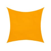 Sonnensegel - 360 x 360cm - gelb - quadratisch - wasserabweisend (3,6 x 3,6m)