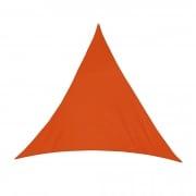 Sonnensegel - 500 x 500 x 500cm - orange - dreieckig - wasserabweisend (5,0 x 5,0 x 5,0m)