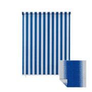 JAROLIFT Außenrollo / Balkon / Senkrechtmarkise 140 x 240cm, blau / weiß