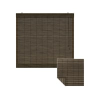 VICTORIA M Klemmfix Bambus-Raffrollo 60 x 220cm, dunkelbraun