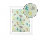 JAROLIFT Fliegengitter für Fenster mit Kindermotiven 130 x 150cm, weiss