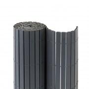 JAROLIFT Premium PVC Sichtschutzmatte 100 x 600cm (2x 3m Länge), grau