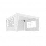 JAROLIFT Faltpavillon 3x3 m Basic inkl. 1x Tür- & 1x Fenster-Seitenteil, weiss