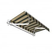 JAROLIFT Gelenkarmmarkise Basic Plus 600 x 350cm, Stoff braun/grün Multistreifen