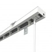 VICTORIA M Vertikaljalousie-Schiene für 8,9cm Lamellen | 240cm Länge, weiß