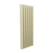 VICTORIA M Vertikaljalousie-Lamellen Isabella - I-Form, leicht lichtdurchlässig - 8,9 x 250cm, beige | 6er Pack