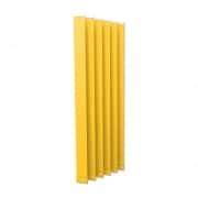 VICTORIA M Vertikaljalousie-Lamellen Isabella - I-Form, leicht lichtdurchlässig - 8,9 x 250cm, gelb | 6er Pack