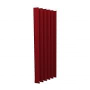 VICTORIA M Vertikaljalousie-Lamelle Isabella - I-Form, leicht lichtdurchlässig - 8,9 x 250cm, rot | 6er Pack