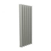 VICTORIA M Vertikaljalousie-Lamelle Isabella - I-Form, leicht lichtdurchlässig - 8,9 x 250cm, silber | 6er Pack