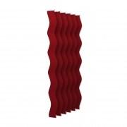 VICTORIA M Vertikaljalousie-Lamellen Scarlett - S-Form, leicht lichtdurchlässig - 8,9 x 250cm, rot | 6er Pack