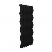VICTORIA M Vertikaljalousie-Lamellen Scarlett - S-Form, verdunkelnd - 8,9 x 250cm, schwarz | 6er Pack