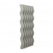 VICTORIA M Vertikaljalousie-Lamellen Scarlett - S-Form, leicht lichtdurchlässig - 8,9 x 250cm, silber | 6er Pack