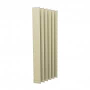 VICTORIA M Vertikaljalousie-Lamelle Isabella - I-Form, leicht lichtdurchlässig - 12,7 x 250cm, beige | 6er Pack
