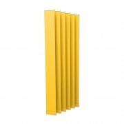 VICTORIA M Vertikaljalousie-Lamelle Isabella - I-Form, leicht lichtdurchlässig - 12,7 x 250cm, gelb | 6er Pack