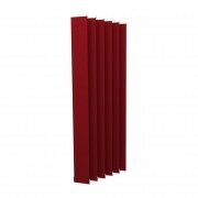 VICTORIA M Vertikaljalousie-Lamellen Isabella - I-Form, leicht lichtdurchlässig - 12,7 x 250cm, rot | 6er Pack