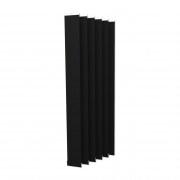 VICTORIA M Vertikaljalousie-Lamelle Isabella - I-Form, verdunkelnd - 12,7 x 250cm, schwarz | 6er Pack