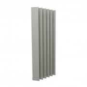 VICTORIA M Vertikaljalousie-Lamellen Isabella - I-Form, leicht lichtdurchlässig - 12,7 x 250cm, silber | 6er Pack