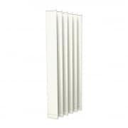 VICTORIA M Vertikaljalousie-Lamellen Isabella - I-Form, leicht lichtdurchlässig - 12,7 x 250cm, weiß | 6er Pack