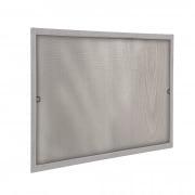 JAROLIFT Insektenschutz Spannrahmen SlimLine für Fenster 70 x 150cm, silber