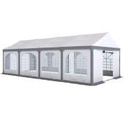 PARAMONDO Partyzelt Flex 4 x 8 m | weiß-grau | aufbaubar in den Größen: 4 x 4 m, 4 x 6 m, 4 x 8 m