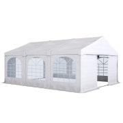 PARAMONDO Partyzelt Flex 5 x 6 m | weiß-weiß | aufbaubar in den Größen: 5 x 4 m, 5 x 6 m