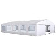 PARAMONDO Partyzelt Flex 8 x 10 m | weiß-weiß | aufbaubar in den Größen: 8 x 4 m, 8 x 6 m, 8 x 8 m, 8 x 10 m