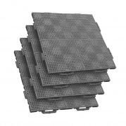 TERRAGUIDE COLOUR Eventboden 1m² | 4 Verlegeeinheiten à 50 x 50cm | 16 Klickfliesen, grau