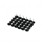 JAROLIFT Magnetvorhang-Befestigungskit für Holzrahmen | 30 Reißnägel, schwarz