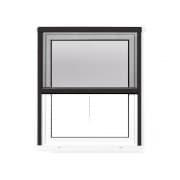 JAROLIFT 4 in 1 Insektenschutzrollo Zanzara | Rahmen: Aluminium | 70 x 130 cm, anthrazit