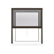 JAROLIFT 4 in 1 Insektenschutzrollo Zanzara | Rahmen: Aluminium | 100 x 160 cm, braun