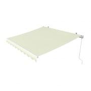 PARAMONDO Gelenkarmmarkise Easy | 2,95 x 2 m | Stoff: Uni, hellbeige