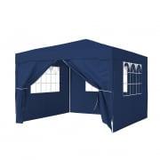 PARAMONDO Steckpavillon | 3 x 3 m inkl. 1x Türwand & 3x Fensterwand, blau