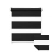 VICTORIA M Zevra Doppelrollo / Duo Rollo | verdunkelnd, 95 x 230 cm, schwarz