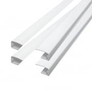 VICTORIA M Führungsschienen für Tenebra Verdunkelungsrollo & Thermorollo, weiß | 4 Stück à 80cm