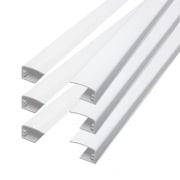 VICTORIA M Führungsschienen für Tenebra Verdunkelungsrollo & Thermorollo, weiß | 6 Stück à 80cm