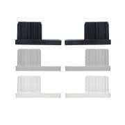 JAROLIFT Verschlusskappe für Rollladen-Führungsschienen PP 45 (45 x 22 mm) (Typ nach Wahl)