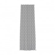 Home Wohnideen Ösenvorhang | transparent, Triangel-Muster, 140 x 245 cm, grau-weiß