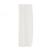 Verdi Collection Premium Gardinenschal | lichtdurchlässig, Vertikal-Linien, 145 x 245 cm, wollweiß