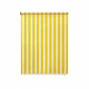 paramondo Außenrollo - Senkrechtmarkise | freihängend, 140 x 140 cm, gelb-weiß