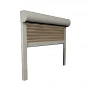JAROLIFT Vorbaurollladen Premium ALU, Kasten viertelrund, 400 x 400 mm, grau